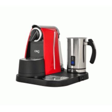 Machine à café à capsules compatible Nespresso avec mousseur à lait