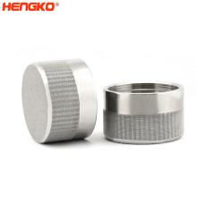 Custom microns sintered 316L stainless steel powder or mesh sintering oil filter cartridge
