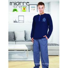 Miorre OEM Nuevo 2017 Season Men's Classic & Elegant Pijamas Set con cierre de cremallera