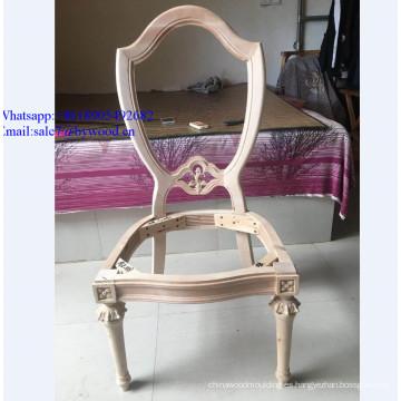 Muebles para el hogar tallados antiguos muebles de comedor talla de madera silla marco Marco Marco de madera de Francia