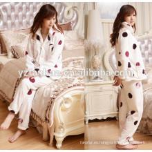 Noche de algodón franela caliente de las mujeres pijama dormir desgaste