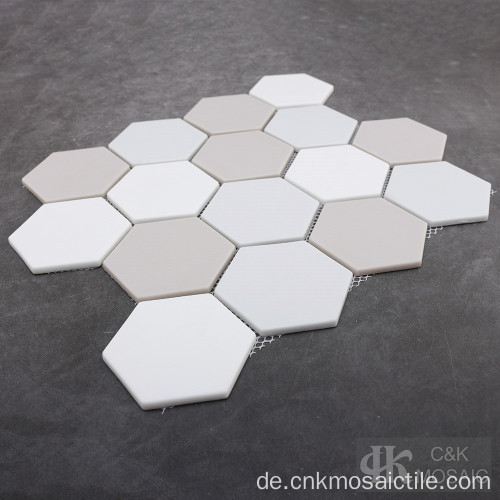 Mischfarbe Hexagon Recycled Glass Mosaic Wall
