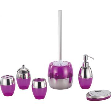 Set accessori da bagno viola