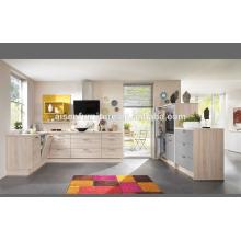Armário de cozinha de melamina de design italiano moderno diretamente da fábrica de gabinetes de cozinha da China