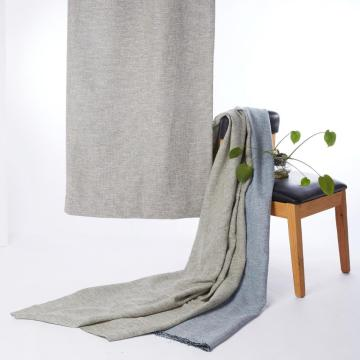 High Quality Solid Design Thick Linen Dimout Curtain