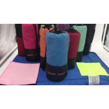 Personalizado rápido seco e absorvente microfibra toalha de praia de camurça para viagens de praia camping Personalizado rápido seco e absorvente microfibra toalha de praia de camurça para viagens de praia camping