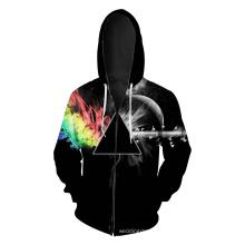 Black Zipper Jacket Sweatshirt Coat Clothes Hoodies (KT66013)