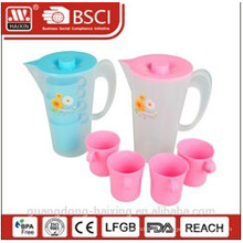plastic water kettle 2L with 4 cups