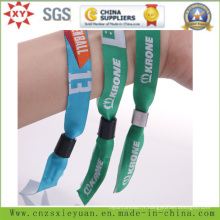 Fashion Event Polyster Woven Wristbands with Tube Slide Lock