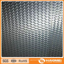 Concave-Convex / semi-sphérique / Classique Orange PEE / Flat-Top Pebble / ondulé / Wove Aluminium Embossing Sheet