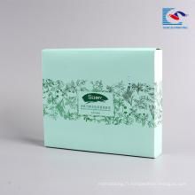 Boîte d'emballage pliable imprimée par logo fait sur commande de logo pour le masque facial