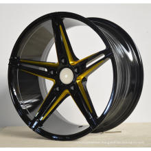 After Alloy Wheels with black machine face UFO-5048