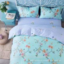 Maravilloso tejido de microfibra impreso pigmento de poliéster para la hoja de cama con buena calidad a la venta