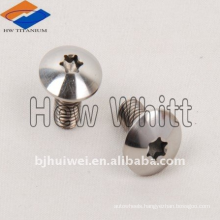Grade 10.9 Gr5 titanium mushroom head bolt with torx