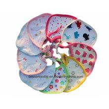 Promotional Cotton White Printing Custom String Closing Baby Bib