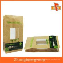 Brown papel kraft bolsa de comida personalizada com janela clara