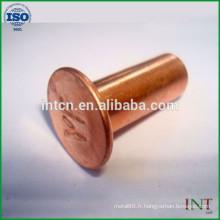 nouveaux rivets creux de produits haute qualité cuivre