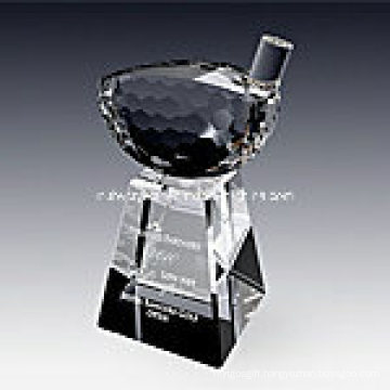 Crystal Golf Driver Trophy Award 1020