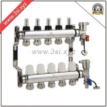 Segregador de agua para calefacción de suelo de 5 vías con indicador (YZF-M801)