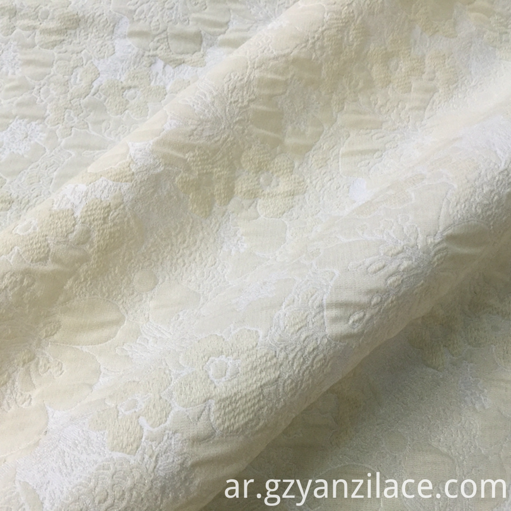 Beige Brocade Fabric