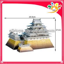 89pcs Weltarchitektur HIMEJI-JO IN JAPAN 3D Modell Puzzle DIY Papier Puzzle für Kinder