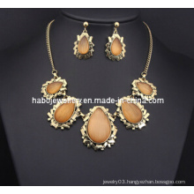 Square Stone Jewelry Set (XJW13214)