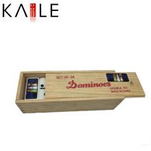 Brinquedo de madeira engraçado da caixa dos dominós da alta qualidade