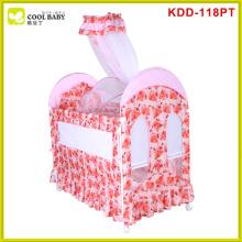 Hot sale european standard baby crib with storage drawers