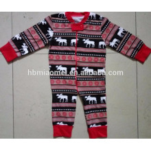 2016 vente chaude infantile bébé noël pyjamas famille pyjamas noël en nourrisson, enfants et taille adulte