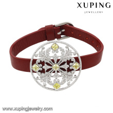 74629 Fashion New Arrival Crystal Jewelry Bracelet in Red Leather