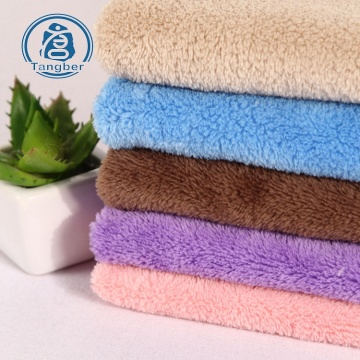 Blanket Sherpa 100% Polyester Coral Fleece Fabric