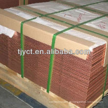 C10100, C10200, C10300, C10400, C10500, C10700, C10800, C10910, C10920 Folhas de cobre