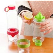 Lemon Cup Citrus Zinger Juice Source Vitalité Bouteille d'eau claire