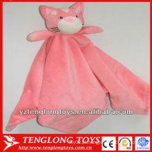 Macio e rosa casa gato plush bebê manta