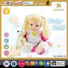 2015 Pequeños niños pequeños del producto amor muñeca niño tamaño citi muñeca de juguete con el oso