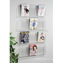 customized acrylic brochure holder, acrylic holder, wall mount acrylic document holder