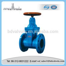 DIN válvula de porta de vedação macia válvula de portão de água de ferro fundido
