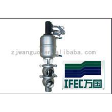 Valve de siège simple sanitaire en acier inoxydable (IFEC-SV100003)