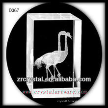 K9 3D Subsurface Etched Bird