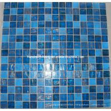 Blue Goldline Glass Mosaic Tile (HGM327)