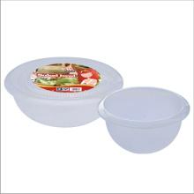 ronde des aliments stockage conteneur couvercle en plastique transparent saladier avec couvercle