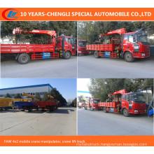 Faw 4X2 Mobile Crane Manipulator, Lorry Truck with Crane XCMG