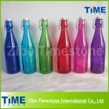 Стеклянная бутылка 500ml с крышкой зажима