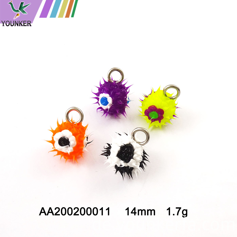 Nice Soft Rubber Spike Ball Pendant With Flower