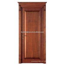 Diseño moderno de puertas delanteras de madera de teca de alta calidad