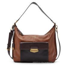Classical Front Contract Color Pocket Ladies Fashion Handbag (ZX20197)