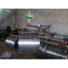 High Carbon Steel Heißer DIP Galvanisierter 2.4X3.0mm Ovaler Draht