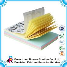 El adhesivo de impresión de papel colorido arranca la libreta al por mayor