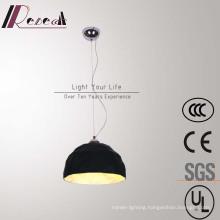 Modern Simple Hotel Decorative Black Fiberglass Round Pendant Lamp