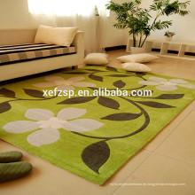 Super saugfähige 100% Polyester Mikrofaser Wohnzimmer Innen Matten 100% Polyester gedruckt wasserdicht weichen zottigen Teppich